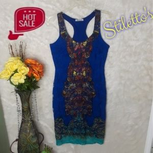 Dresses & Skirts - Lace Dress Blue Small